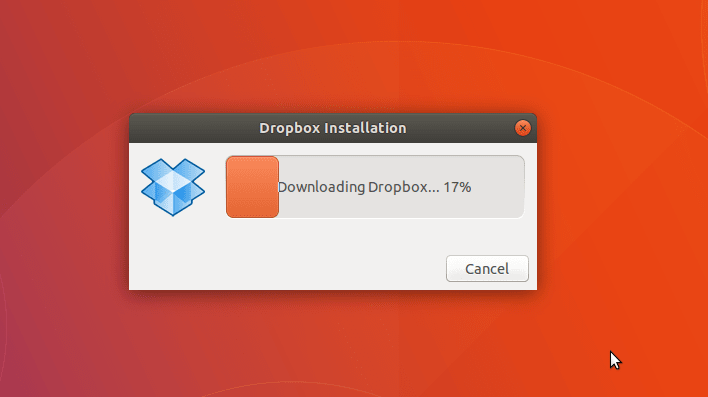 download dropbox - ubuntu 18.04 bionic beaver