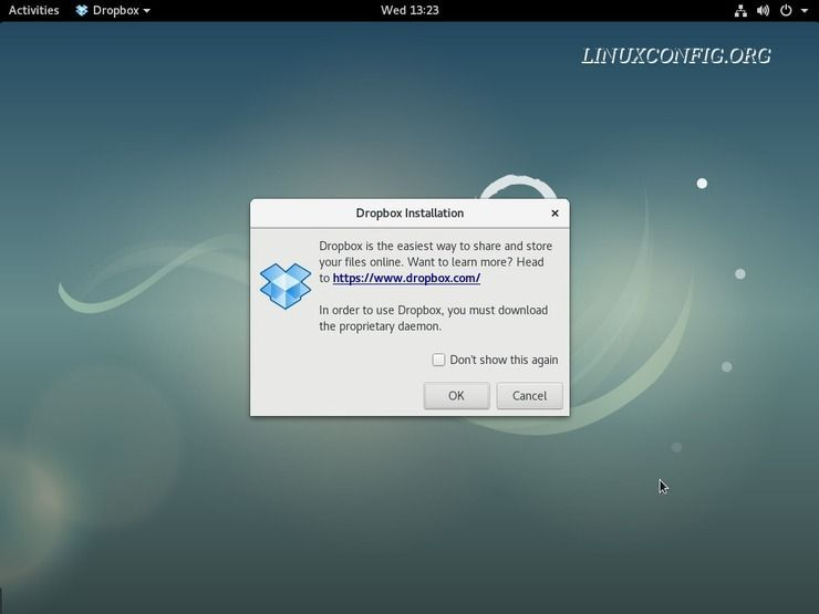 How to install Dropbox client on Debian 9 Stretch Linux