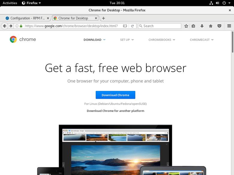 Installing Google Chrome on Fedora 25 Linux - LinuxConfig org