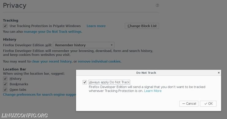 Protecting Your Privacy With Firefox on Linux - LinuxConfig org