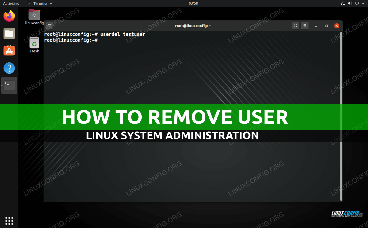 How to remove a user on Linux