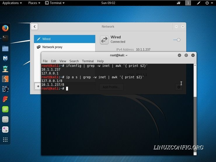 How to check my Local and External IP address on Kali Linux