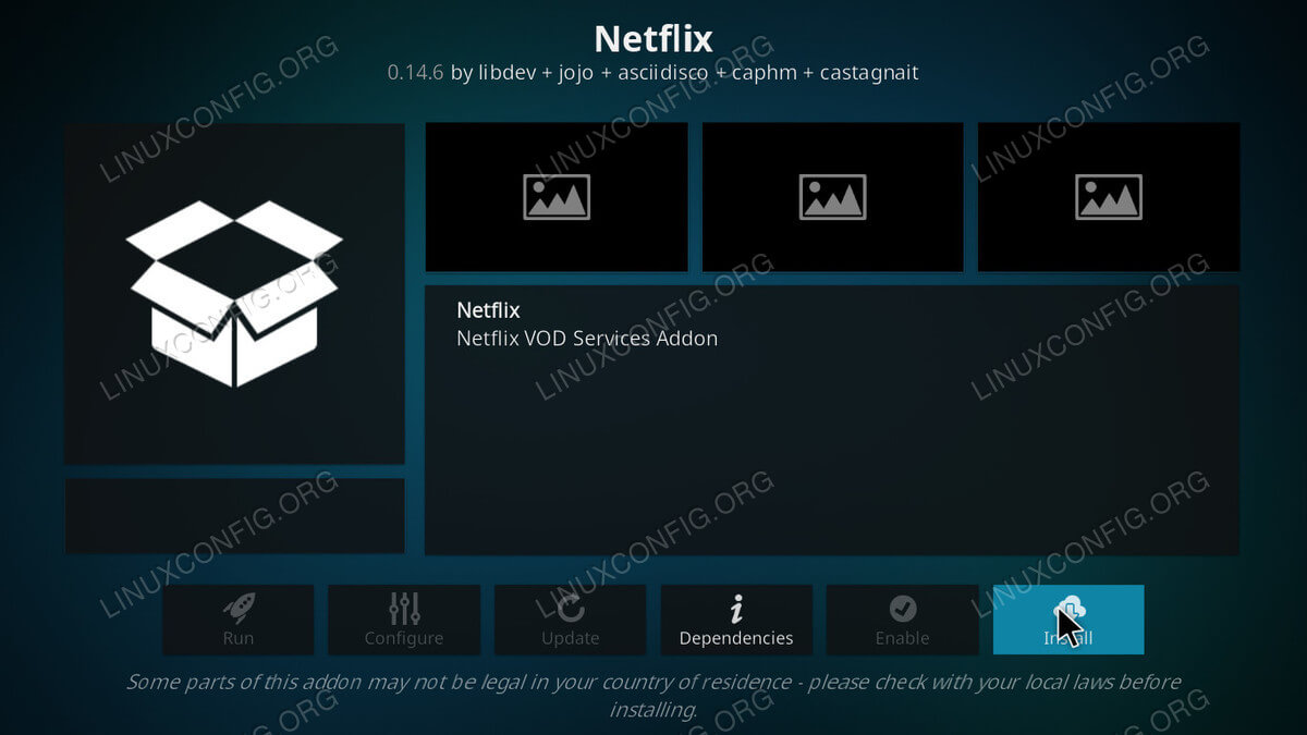 Netflix Add-on Page Kodi