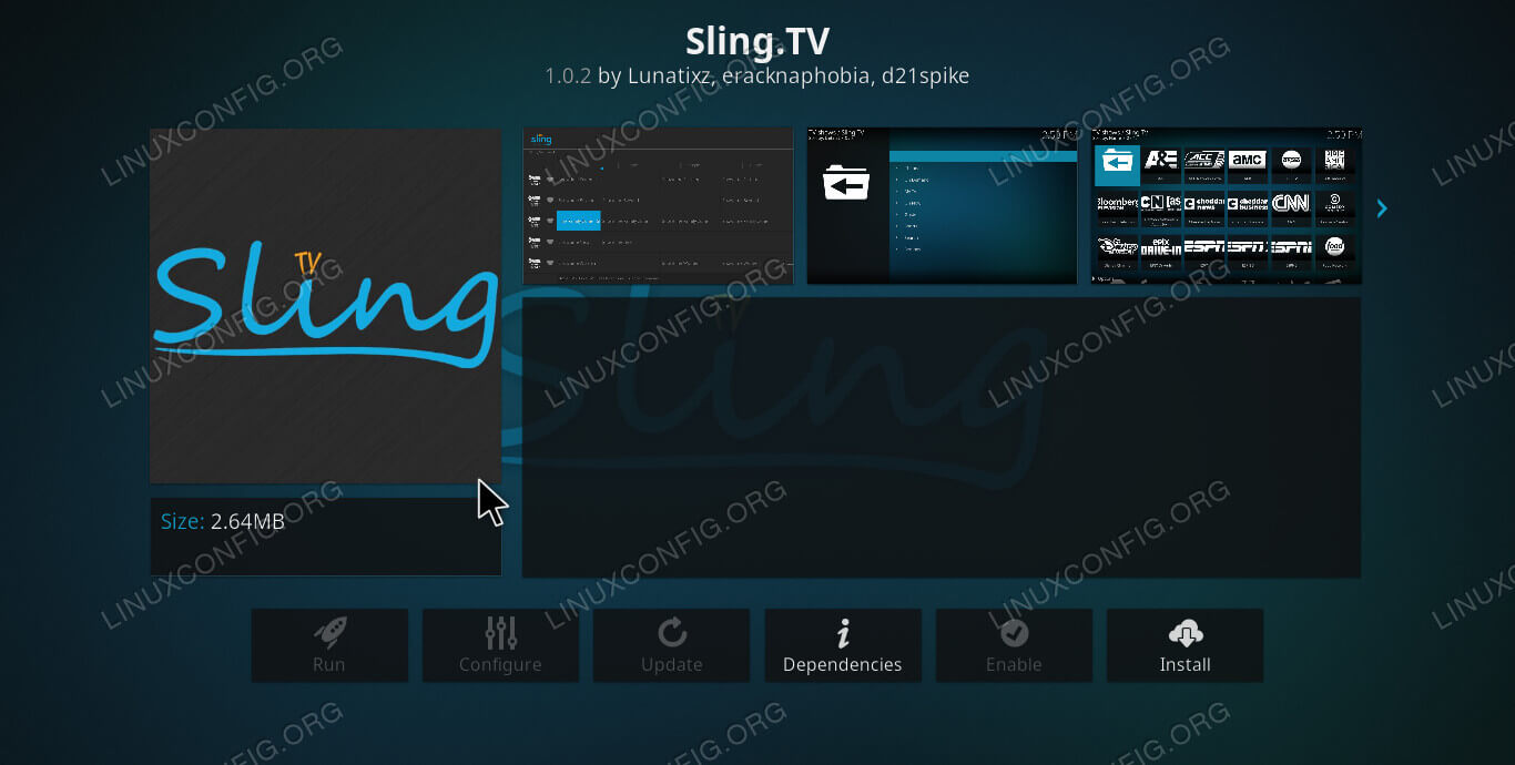Sling TV on Kodi
