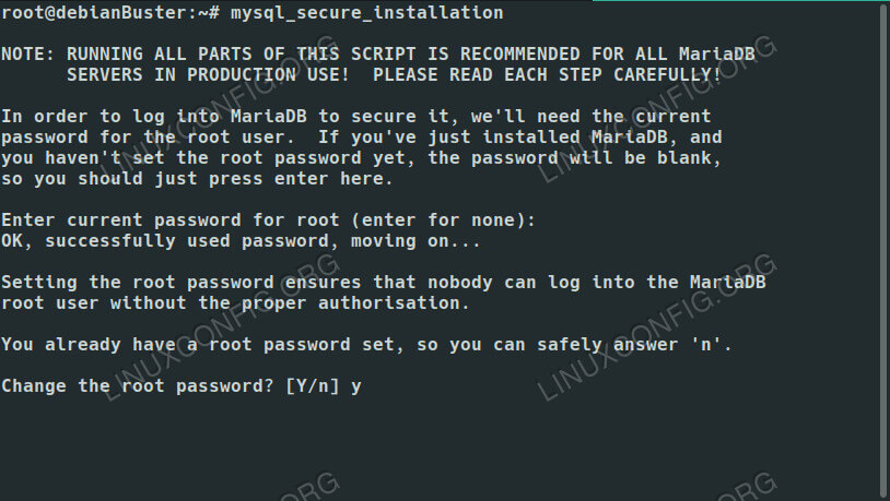 MariaDB Secure Setup on Debian 10