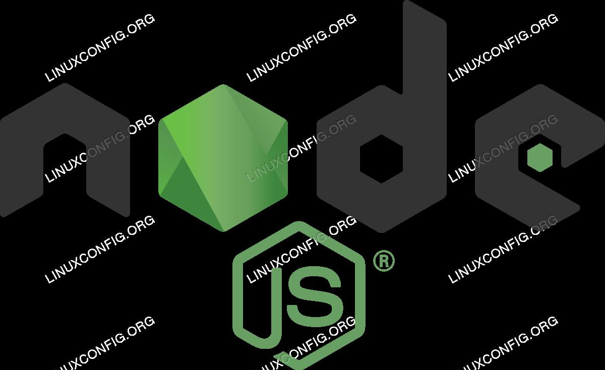 How to install node js on RHEL 8 / CentOS 8 Linux