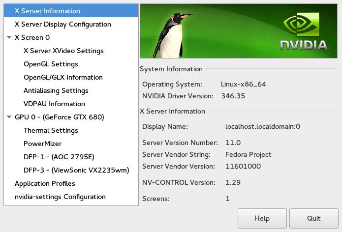 fedora-linux-nvidia-driver-settings