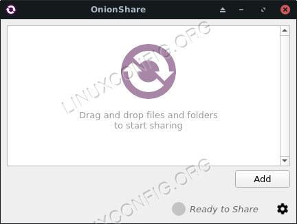 Onionshare Running