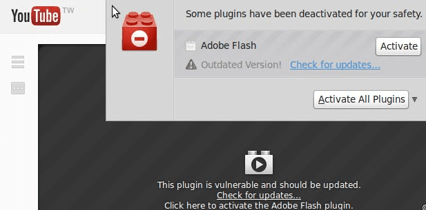 blocked flash plugin firefox