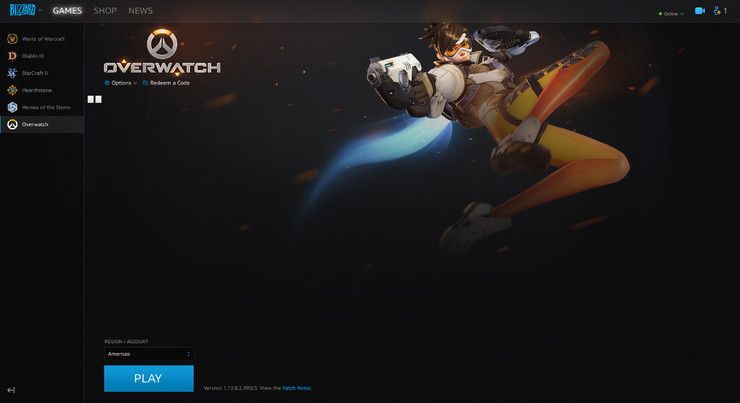 Blizzard App With Overwatch Installed
