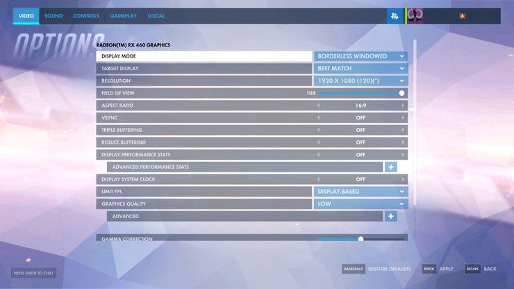 Overwatch Video Settings