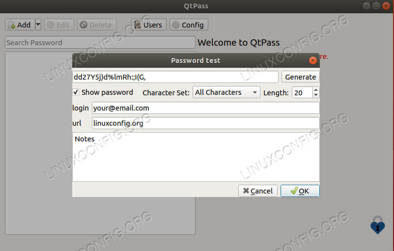 QtPass Password Creation