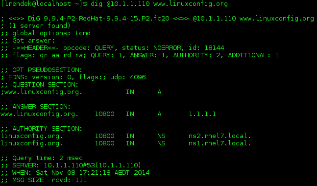 How to setup a named DNS service on Redhat 7 Linux Server