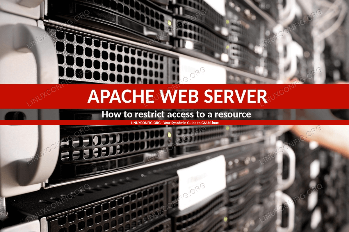How to restrict access to a resource using Apache on Linux