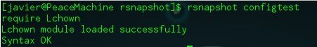 rsnapshot configtest