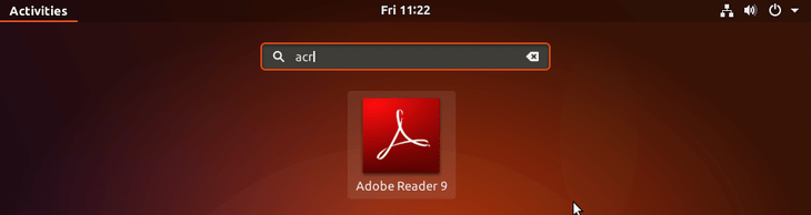Start adobe acrobat reader - ubuntu 18.04 bionic