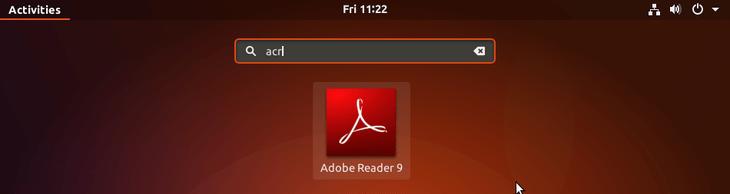 Start adobe acrobat reader - ubuntu 18.04 bionic