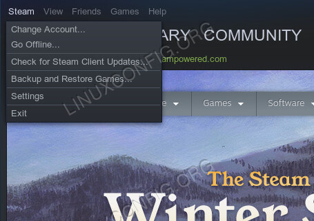 Steam Drop Down Menu