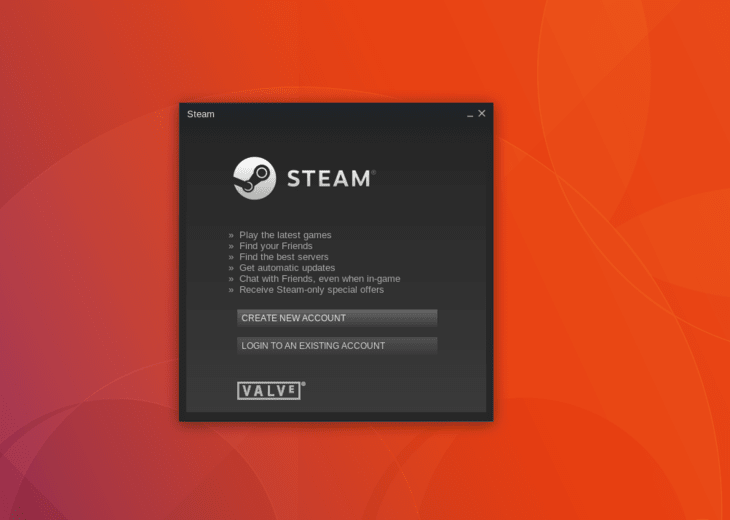 Steam on Ubuntu 18.04 Bionic Beaver Linux  - Login