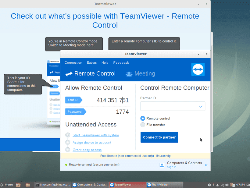How to install TeamViewer on Debian 9 Stretch Linux