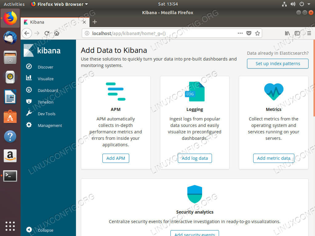 Kibana Running On Ubuntu 18.04