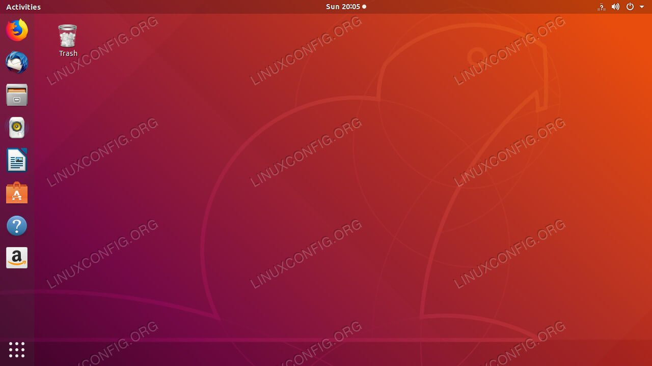 Ubuntu Bionic GNOME Desktop