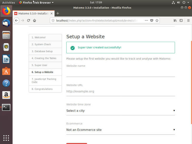 Ubuntu Bionic Matomo Website Setup