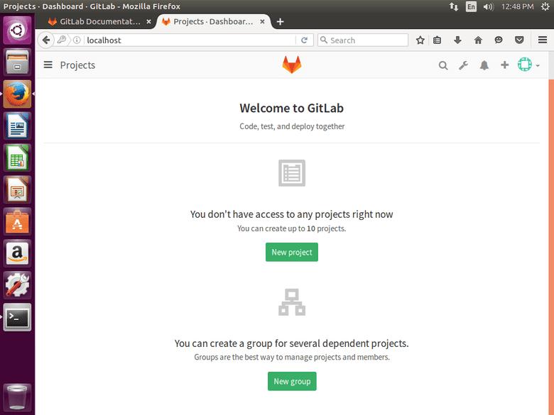 Ubuntu 16.04 running MPD Gitlab