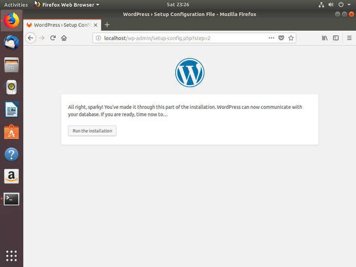 Ubuntu Bionic Begin WordPress Install
