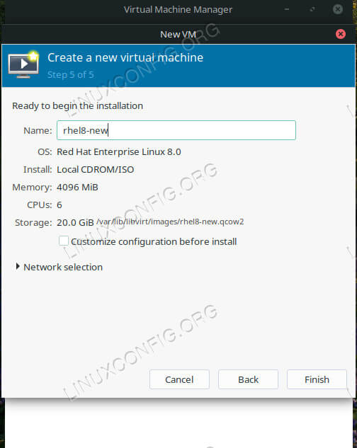 How To Install RHEL 8 on a Virtual Machine - LinuxConfig org