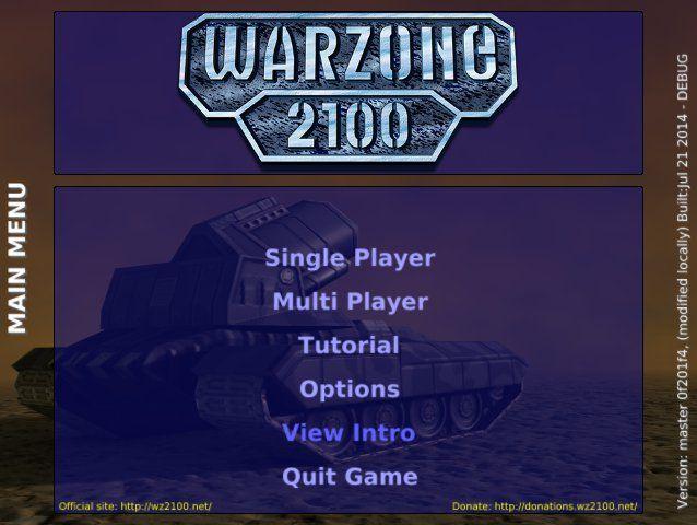 warzone2100 main menu