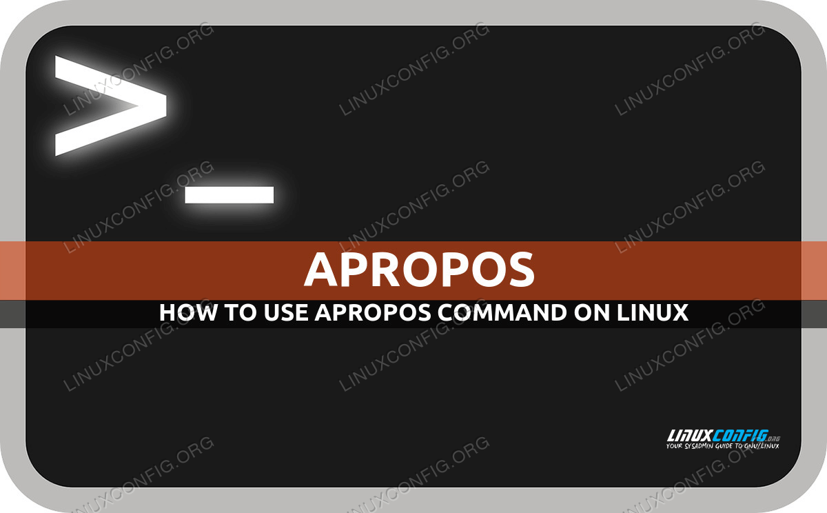 apropos command in Linux with examples