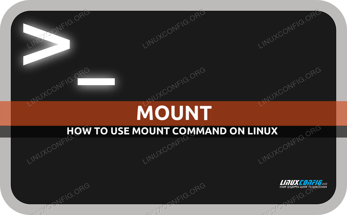 mount command in Linux with examples