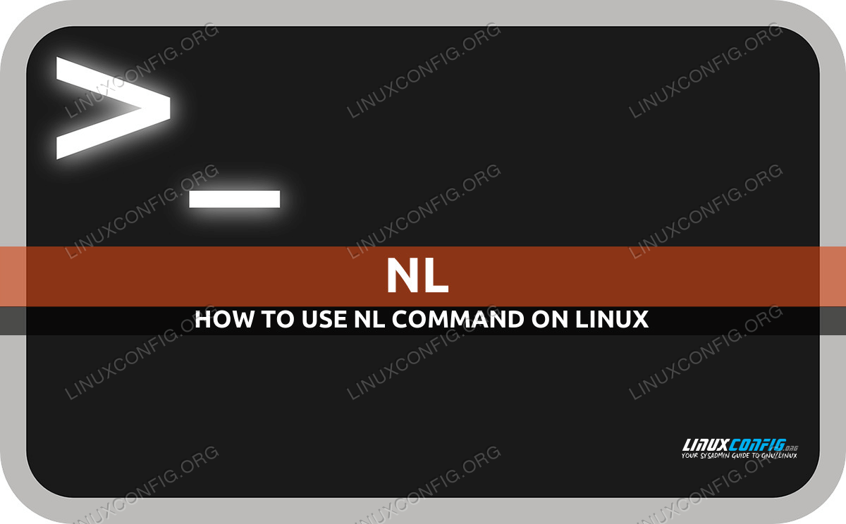 nl command in Linux with examples