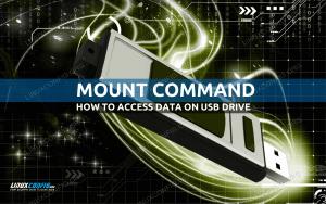 Mount USB Linux