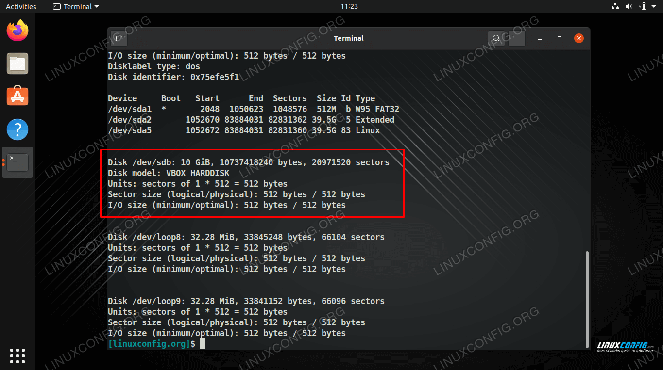 We can see the name of our hard drive that we wish to encrypt, take note of it for future commands