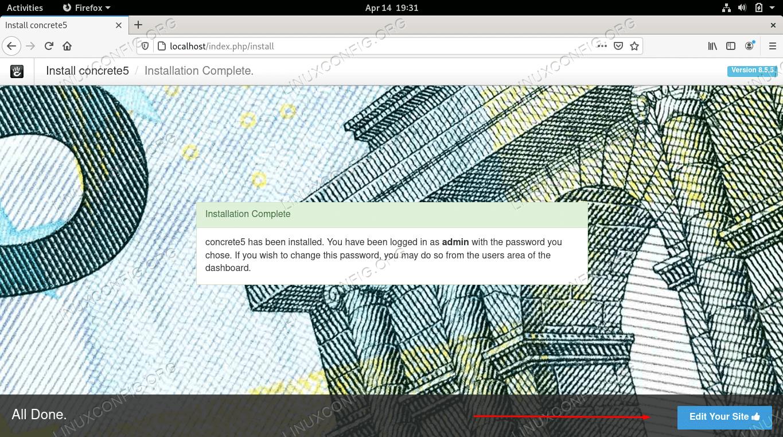 Installing Concrete5 CMS on Fedora Linux