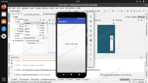 Developing and running an Android app on a Linux system