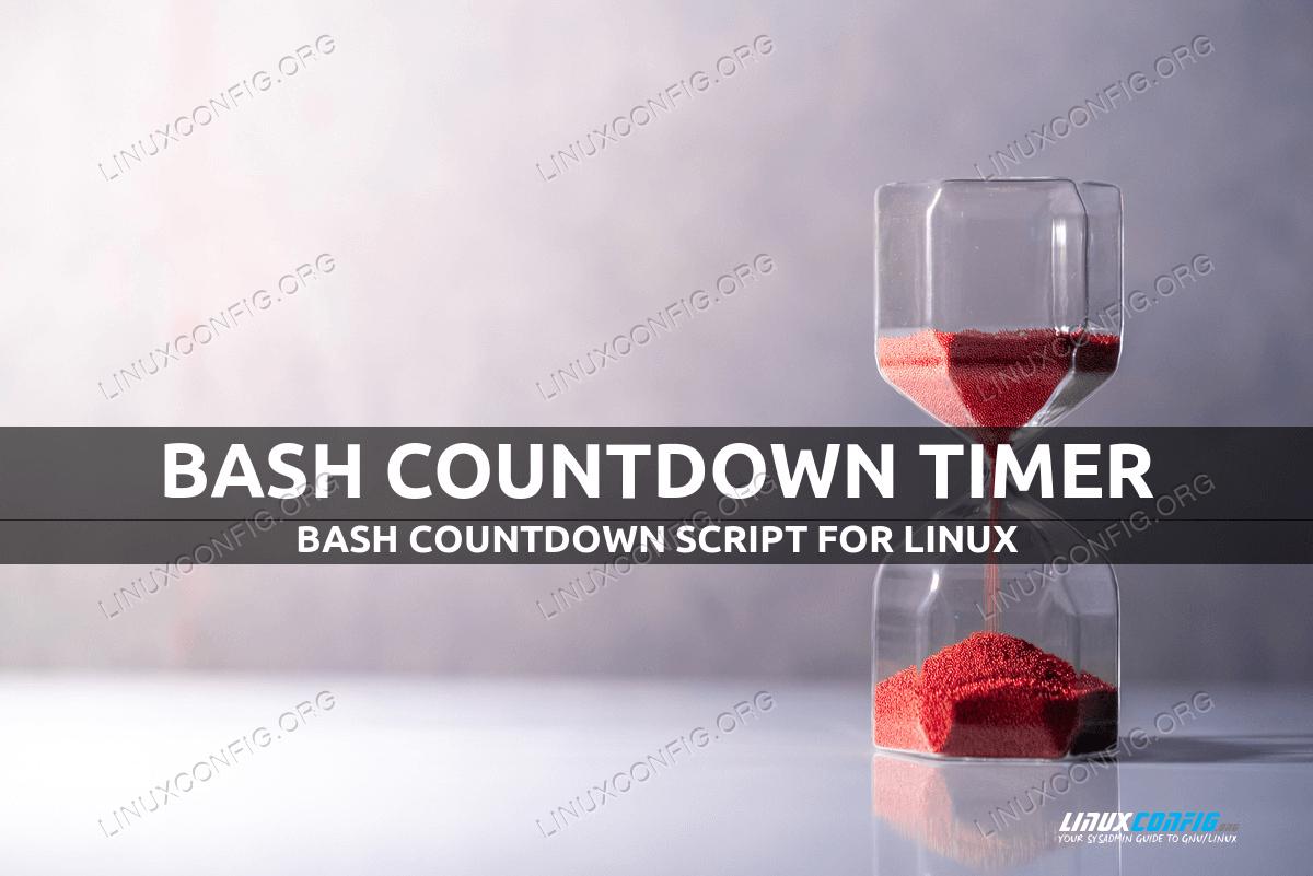 Bash countdown timer
