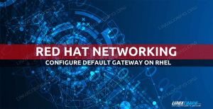 RHEL default gateway configuration