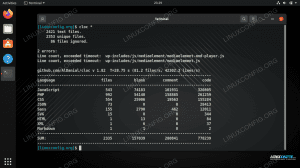 Use the cloc command to count number of lines of code in Linux