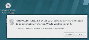 Mount and install VirtualBox Guest Additions on Redhat 7 linux