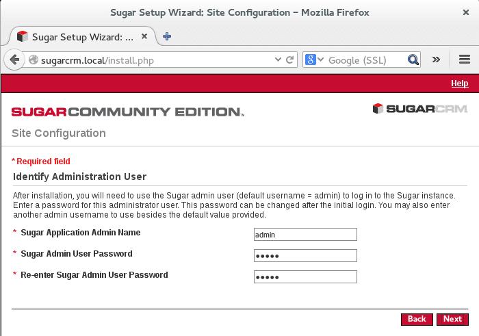 setup sugardcrm administrator user