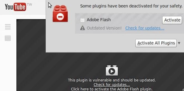 blocked flash plugin firefox