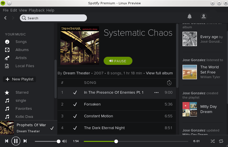 installation of spotify music client on debian jessie linux 8