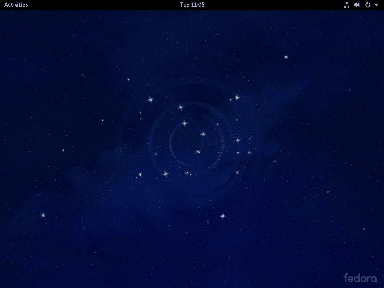 The default Fedora 24 desktop