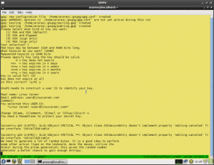 Create RPM package gpg key