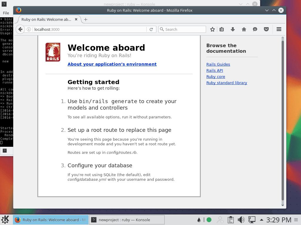 Ruby on Rails running on Ubuntu 16.04