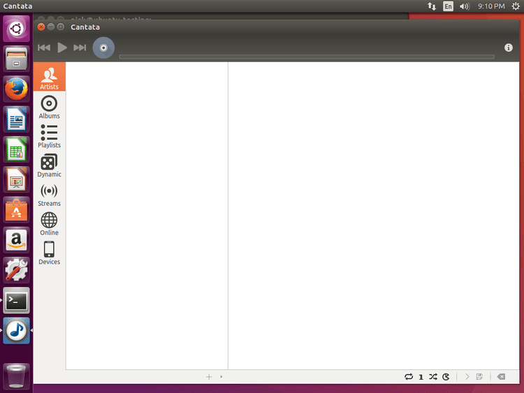 Ubuntu 16.04 running MPD with the Cantata client
